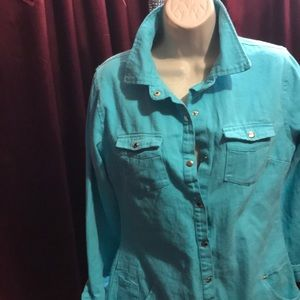 Pretty blue romper style outfit size large NW0T
